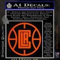 LA Clippers New Decal Sticker Orange Vinyl Emblem 120x120