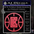LA Clippers New Decal Sticker Pink Vinyl Emblem 120x120