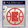 LA Clippers New Decal Sticker Red Vinyl 120x120