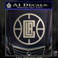 LA Clippers New Decal Sticker Silver Vinyl 120x120
