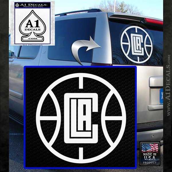 LA Clippers New Decal Sticker White Emblem