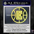 LA Clippers New Decal Sticker Yelllow Vinyl 120x120