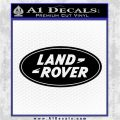 Land Rover Decal Sticker Black Logo Emblem 120x120