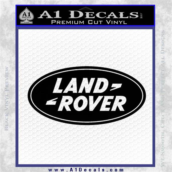 Land Rover Decal Sticker Black Logo Emblem