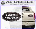 Land Rover Decal Sticker Carbon Fiber Black 120x97
