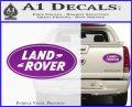 Land Rover Decal Sticker Purple Vinyl 120x97