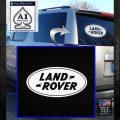 Land Rover Decal Sticker White Emblem 120x120