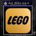 Lego Logo Decal Sticker Metallic Gold Vinyl Vinyl 120x120