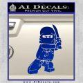 Lego Ninja Ninjago DLB Decal Sticker Blue Vinyl 120x120