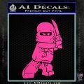Lego Ninja Ninjago DLB Decal Sticker Hot Pink Vinyl 120x120
