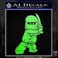 Lego Ninja Ninjago DLB Decal Sticker Lime Green Vinyl 120x120