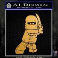 Lego Ninja Ninjago DLB Decal Sticker Metallic Gold Vinyl Vinyl 120x120