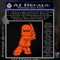 Lego Ninja Ninjago DLB Decal Sticker Orange Vinyl Emblem 120x120