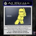 Lego Ninja Ninjago DLB Decal Sticker Yelllow Vinyl 120x120