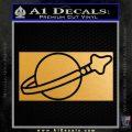 Lego Space Flag Decal Sticker Metallic Gold Vinyl 120x120