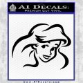 Little Mermaid F4 Decal Sticker Black Logo Emblem 120x120