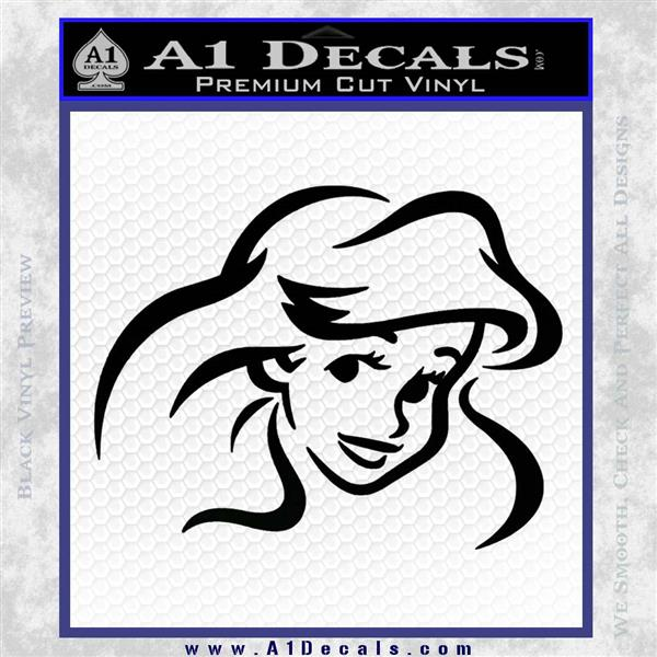Little Mermaid F4 Decal Sticker Black Logo Emblem