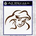 Little Mermaid F4 Decal Sticker Brown Vinyl 120x120