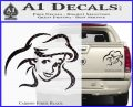Little Mermaid F4 Decal Sticker Carbon Fiber Black 120x97