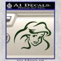 Little Mermaid F4 Decal Sticker Dark Green Vinyl 120x120