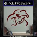 Little Mermaid F4 Decal Sticker Dark Red Vinyl 120x120