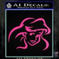Little Mermaid F4 Decal Sticker Hot Pink Vinyl 120x120