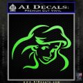 Little Mermaid F4 Decal Sticker Lime Green Vinyl 120x120