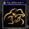 Little Mermaid F4 Decal Sticker Metallic Gold Vinyl Vinyl 120x120