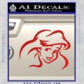 Little Mermaid F4 Decal Sticker Red Vinyl 120x120
