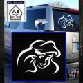 Little Mermaid F4 Decal Sticker White Emblem 120x120