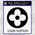 Louis Vuitton CR Decal Sticker Black Logo Emblem 120x120