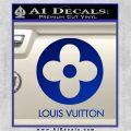 Louis Vuitton CR Decal Sticker Blue Vinyl 120x120