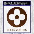 Louis Vuitton CR Decal Sticker Brown Vinyl 120x120