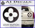 Louis Vuitton CR Decal Sticker Carbon Fiber Black 120x97