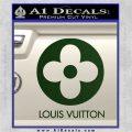 Louis Vuitton CR Decal Sticker Dark Green Vinyl 120x120