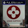 Louis Vuitton CR Decal Sticker Dark Red Vinyl 120x120