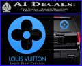 Louis Vuitton CR Decal Sticker Light Blue Vinyl 120x97