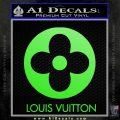 Louis Vuitton CR Decal Sticker Lime Green Vinyl 120x120
