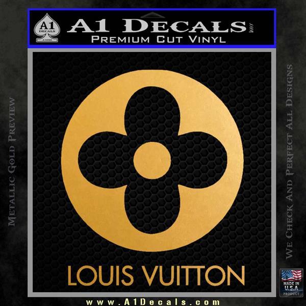Louis Vuitton CR Decal Sticker Metallic Gold Vinyl