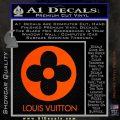 Louis Vuitton CR Decal Sticker Orange Vinyl Emblem 120x120