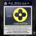 Louis Vuitton CR Decal Sticker Yelllow Vinyl 120x120