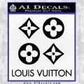Louis Vuitton D4 Decal Set Sticker Black Logo Emblem 120x120