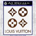 Louis Vuitton D4 Decal Set Sticker Brown Vinyl 120x120