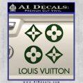 Louis Vuitton D4 Decal Set Sticker Dark Green Vinyl 120x120