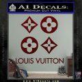Louis Vuitton D4 Decal Set Sticker Dark Red Vinyl 120x120