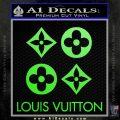 Louis Vuitton D4 Decal Set Sticker Lime Green Vinyl 120x120