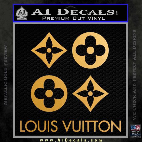 Louis Vuitton D4 Decal Set Sticker Metallic Gold Vinyl