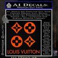Louis Vuitton D4 Decal Set Sticker Orange Vinyl Emblem 120x120