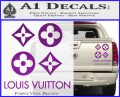 Louis Vuitton D4 Decal Set Sticker Purple Vinyl 120x97