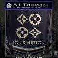 Louis Vuitton D4 Decal Set Sticker Silver Vinyl 120x120